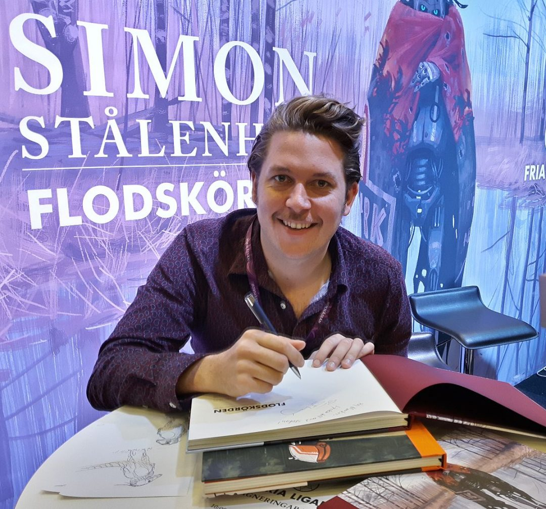 SIMON STÅLENHAG SIGNERAR